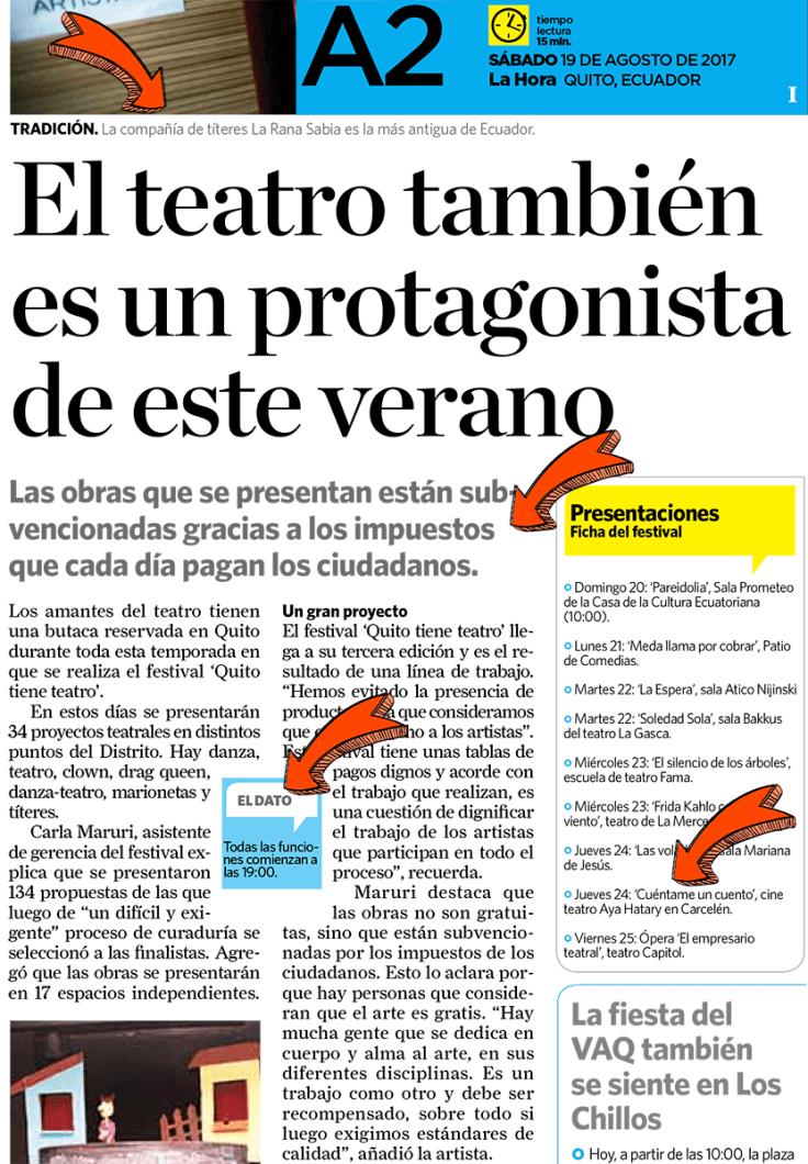 2017 08 19 - La Hora - El teatro también es un protagonista este verano (flechas)