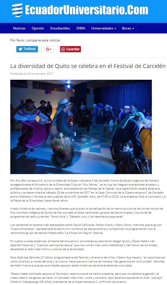 2017 11 23 - Ecuador Universitario - La diversidad de Quito se celebra en el Festival de Carcelén _ EcuadorUniversitario.png