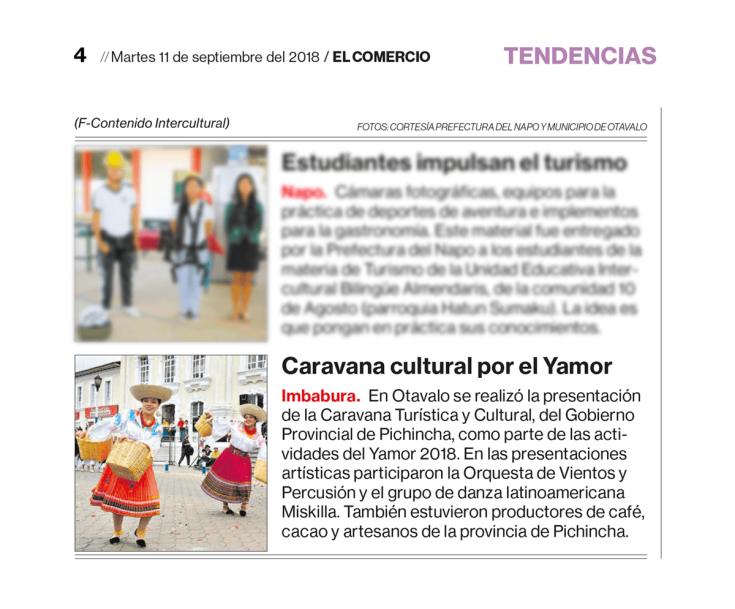 2018 09 11 - El Comercio - Miskilla