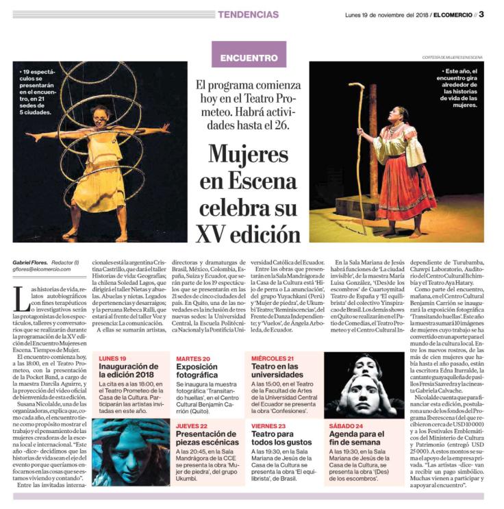 2018 11 19 - El Comercio - IMPRESO - Mujeres en Escena celebra su XV edición en el Teatro Prometeo _ IMPRESO.png