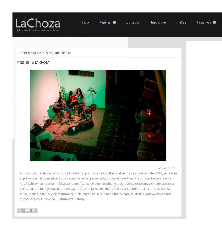 2019 01 28 - Primer recital de música _Luna de paz_ - LA CHOZA-1