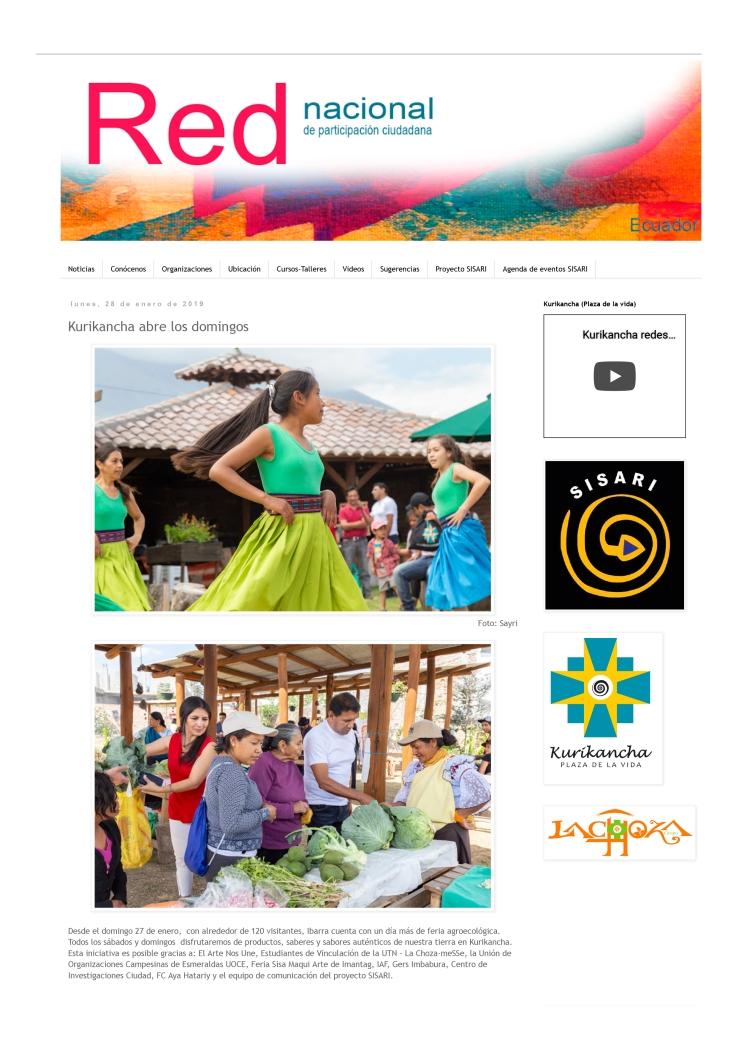 2019 01 28 - RED NACIONAL DE PATICIPACIÓN CIUDADANA_ Kurikancha abre los domingos-1